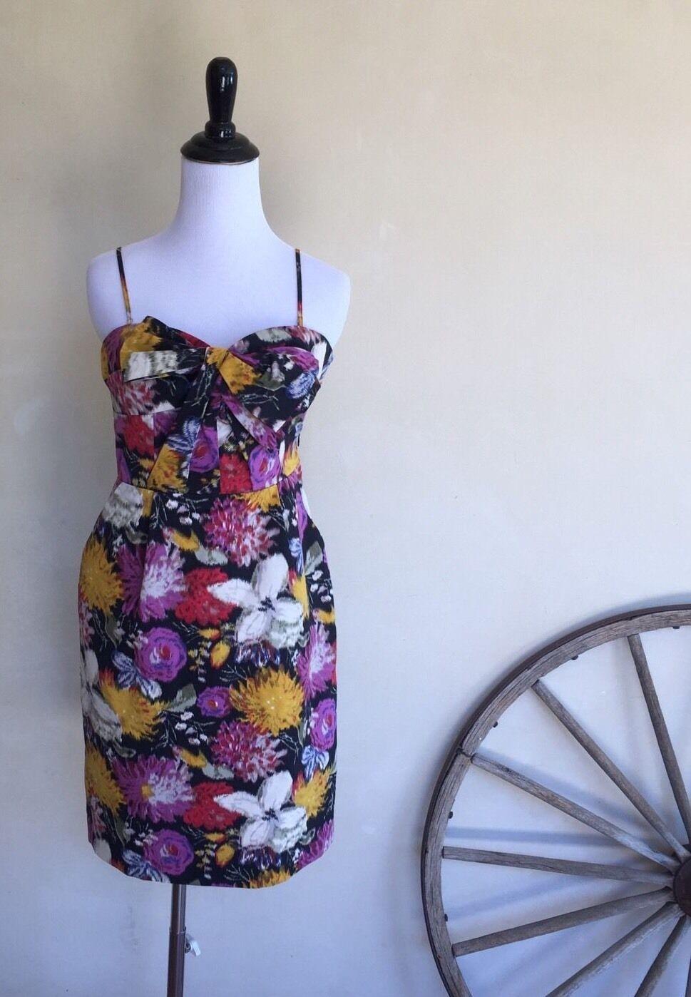 MOULINETTE SOEURS Woherren Strapless Dress Multi Farbe 0 Bow 100%cotton Bow Tie