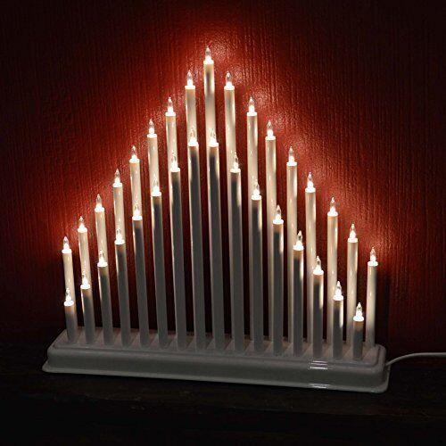 33 Candle Tower Bridge Elegant Stunning Indoor Light Christmas Decor White