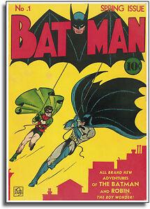 Batman Dark Knight Comic Cover Vintage Deco CANVAS Art Print A0 A1 A2 A3 A4