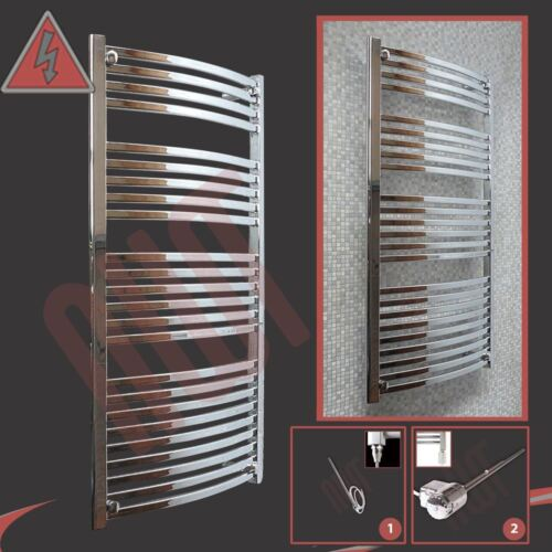 "Pre-Filled Electric /""Ellipse/"" Chrome Towel Rail 400W//600W h x 1400mm w 600mm"