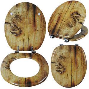 wc sitz toilettensitz klobrille klodeckel mdf holz toilettendeckel deckel ws2646 ebay. Black Bedroom Furniture Sets. Home Design Ideas
