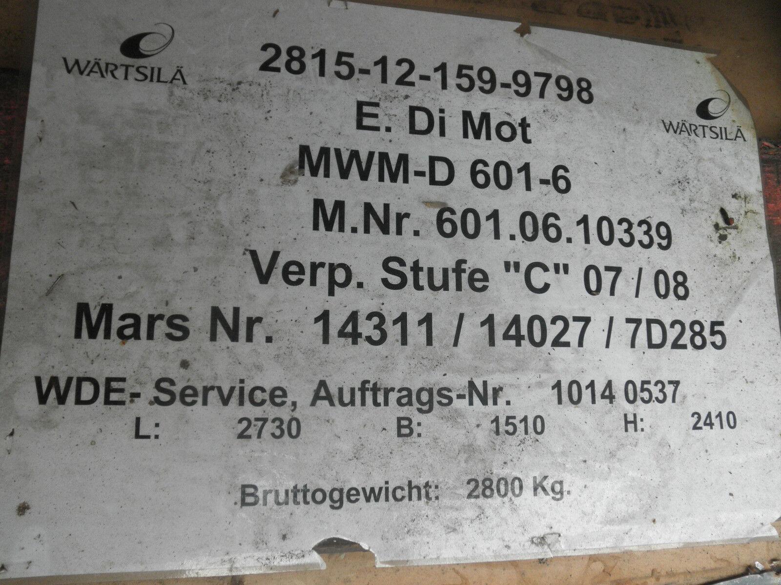 Marine MWM D D MWM 601-6 Schiffsdieselmotor aus BundeswehrBesteand cff5f6