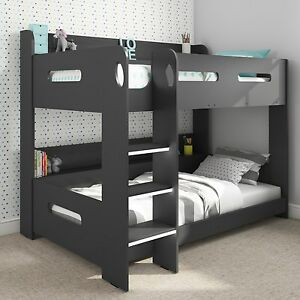 Grey Bunk Bed With Storage Ladder Can Be Fitted Either Side Ebay