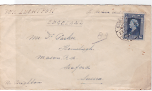 netherlands indies 1948 airmail  to england stamps cover ref r15958