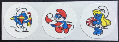Peppermint Excellent Scent!! Vintage Matte Smurf Scratch /& Sniff Stickers