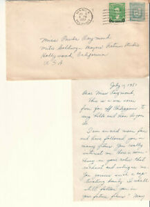 Details about Philippines 1951 cover & letter Tomas Carunungan to actress  Paula Raymond MGM
