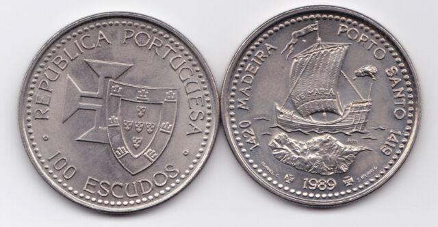 PORTUGAL 1989  100 ESC.  MADEIRA  NI  UNC