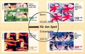 BRD-1998-Sporthilfeausgabe-Nr-1968-1971-mit-Bonner-Ersttagsstempel-1A-1604