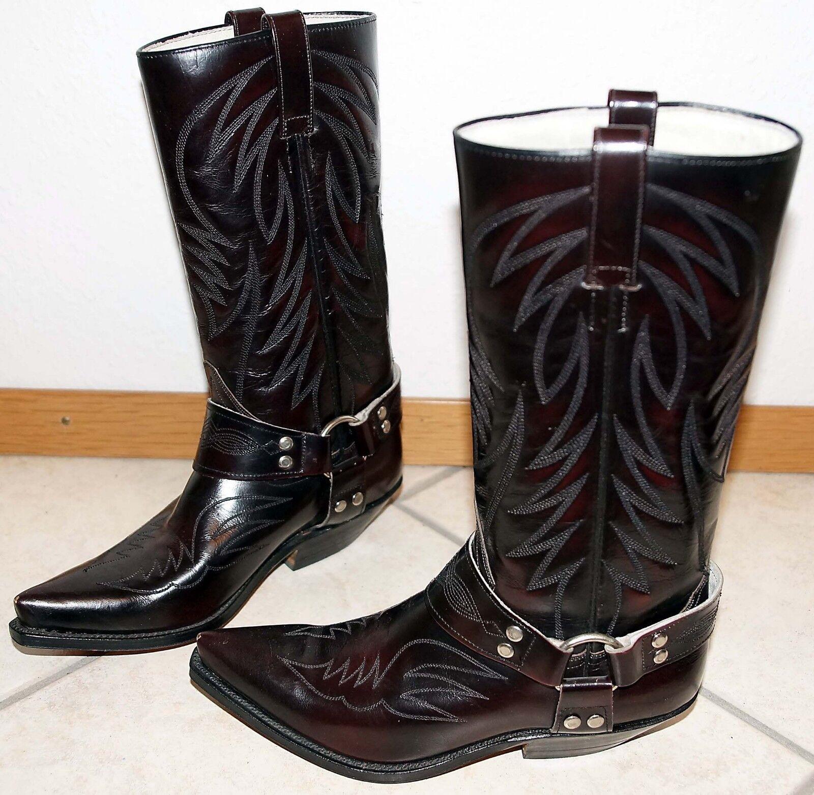 Buffalo 35.5, elegante Echtleder Campus Rodeo Westernstiefel Cowboystiefel, cm 4 cm Cowboystiefel, 0b54d1