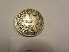 Reichsmark, 1 Mark, Reichsmünze, 1903 Buchstabe A, silber,  unbehandelt, top (5)