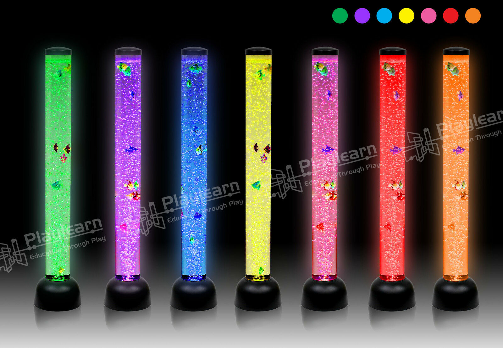 Large 105cm Bubble Tube LED Colour Changing Sensory Floor Light-Superior Quality