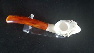 Dazzling Hand Carved Naked Leo Meerschaum Pipe,Meerschaum