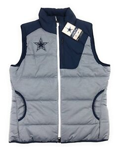 sports shoes 4fa70 0656f Details about Nike NFL Dallas Cowboys Championship Drive Puffer Vest Grey  Heather Womens Small