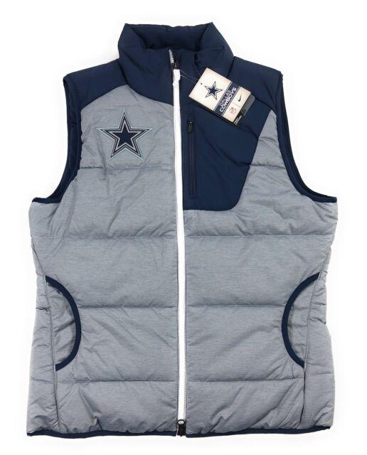 timeless design b0f92 3cff5 Nike NFL Dallas Cowboys Championship Drive Puffer Vest Grey Heather Womens  Small