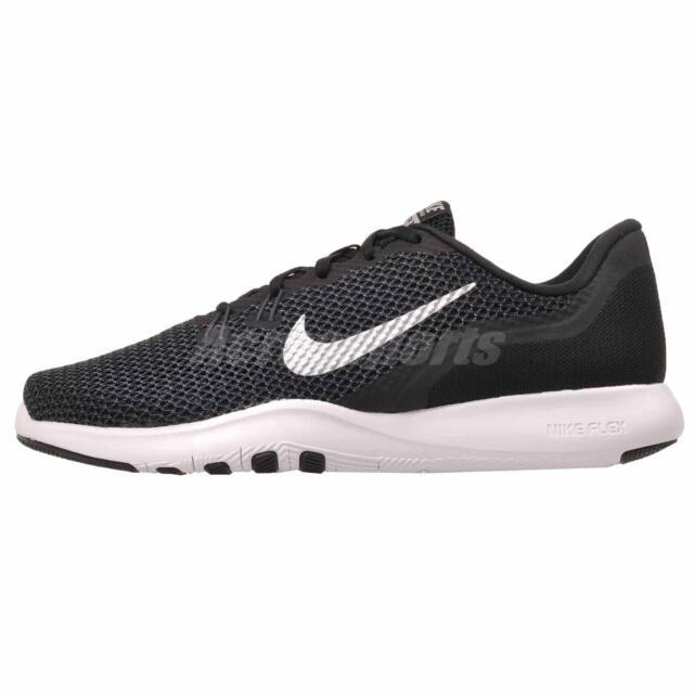 8fd0639e469 Nike Women s Sz 9w Flex Trainer 7 Blk metallic Silver SNEAKERS Shoes ...