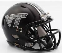 Virginia Tech Hokies Matte Black Ncaa Revolution Speed Mini Football Helmet