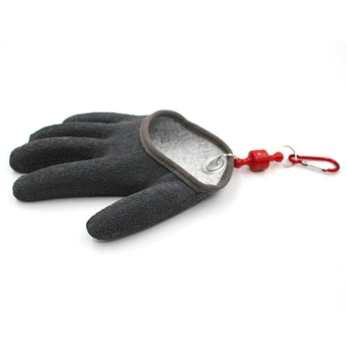 Fishing Free Hands Fishing Gloves Handing Fish Safety Magnet Release /& Keychain