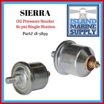 Sierra 18-5899 Single Station Oil Pressure Sender 0-80 PSI Crusader Mercruiser