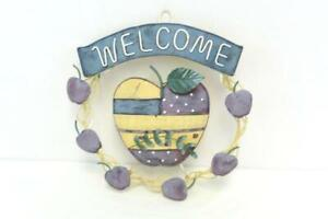 Welcome-Metal-Apple-Hanging-Wreath-Decoration-Home-Decor-Outdoor-Indoor-Country