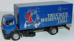 Herpa-H0-034-MB-Trucker-Weihnacht-1991-Exclusiv-Serie-034-Neu