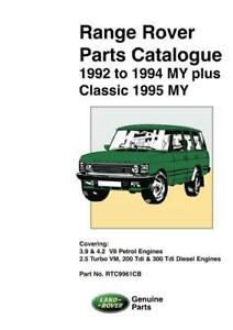 range rover classic 92 95 parts list catalogue owners workshop rh ebay co uk 1995 Range Rover Classic Parts 1995 Range Rover Classic Radio