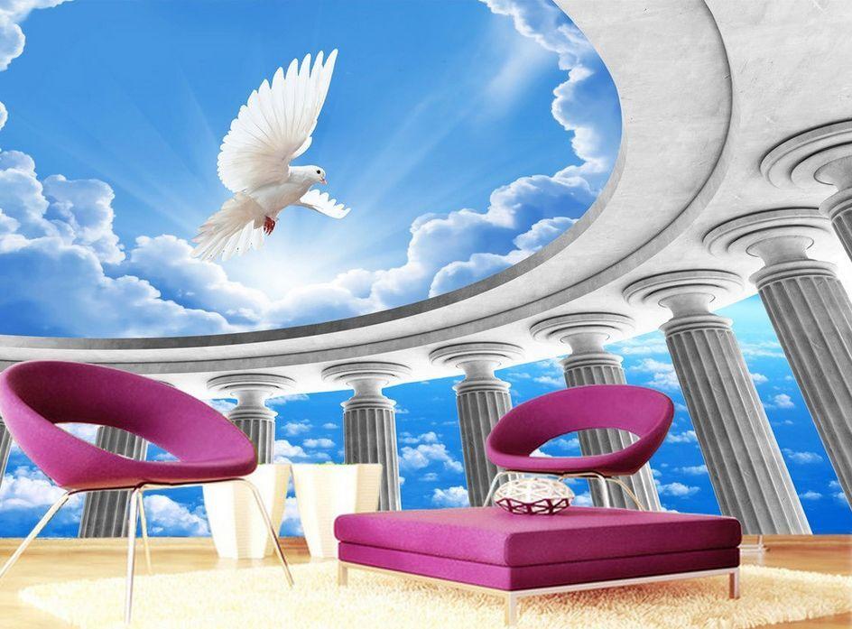 3D An der spitze landschaft 02Fototapeten Wandbild Fototapete BildTapete Familie