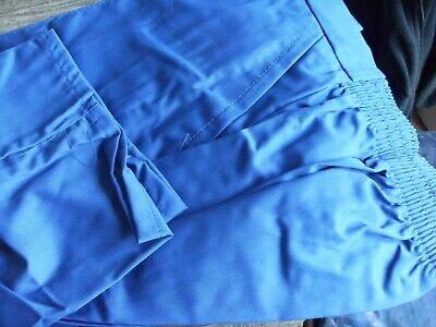 """Ladies royal blue work trousers Nurse etc Waist 38/""""   Size 18 20  TR278"""
