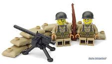 Ww2 CUSTOM US mg posizione, stampate figure, con Brickarms, da LEGO ® parti