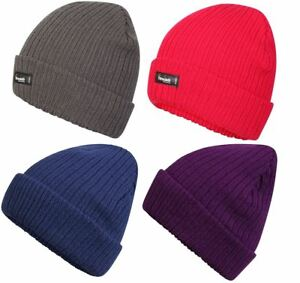 Womens Pro Climate Genuine Thinsulate Lined Beanie Hat Plain Marl or ... 8becfd408fce