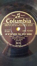 SWEDEN 78 rpm RECORD Columbia EDVARD PERSSON Ja´ ä´ en liten pag  fran skane /..