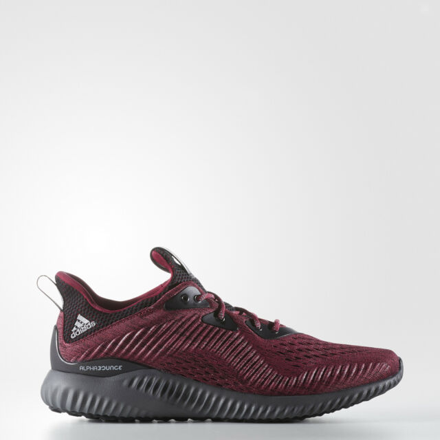 more photos b3813 1f547 Adidas Alphabounce EM M Shoes Sneakers Running BM1204 Mystery Ruby US12  UK11.5