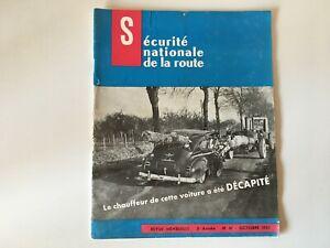 Rivista Sicurezza Nazionale Della Strada N° 41 Ottobre 1957