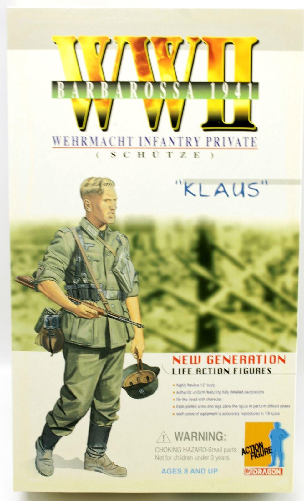 Segunda Guerra Mundial Wehrmacht infantería privado Klaus Schutze Barbarossa 1941 figura de Dragon 12