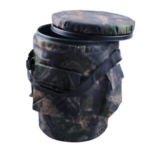 Shooting-Camouflage-Padded-Swivel-Bucket-Seat-with-Storage-Pockets-for-Hunting