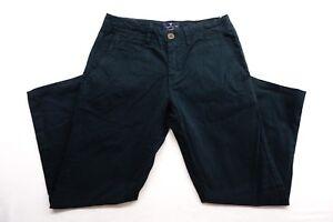 Nuevo American Eagle Para Mujer 3307 Negro Verde Skinny Jeans Pantalones Ajustados 28 X 30 Ebay