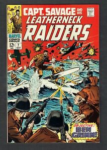Captain-Savage-7-Marvel-Comics-Silver-Age-1968-VF-Battlefield-Raiders-amp-WWII