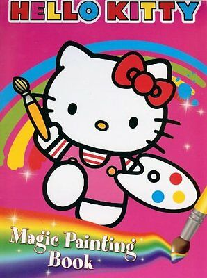 HELLO KITTY MAGIC PAINTING BOOK PAINT COLOUR ACTIVITY COLOURING PARTY BAG ag
