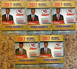 5-2017-Patrick-Mahomes-Gold-Platinum-Limited-Draft-Card-Kansas-City-Chiefs-MVP