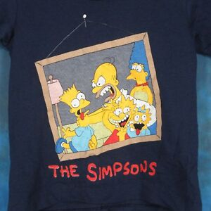 NOS-vintage-80s-THE-SIMPSONS-CARTOON-YOUTH-KIDS-T-Shirt-bart-homer-tv-thin-90s