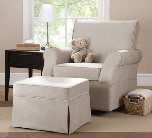 Baby Relax Kelcie Swivel Glider And Ottoman Commet Doe For Sale