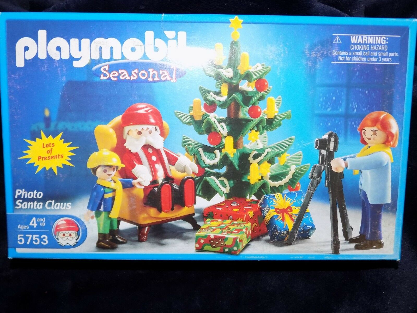NEW Meerled 2003 PLAYMOBIL Christmas Picture Pheißo with Santa Claus Set 5753