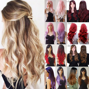 85ac4718bf1 Natural Looking Long Straight Ombre Wig with Black Roots for Fashion ...
