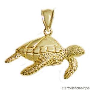 New-14k-Gold-Sea-Turtle-Pendant