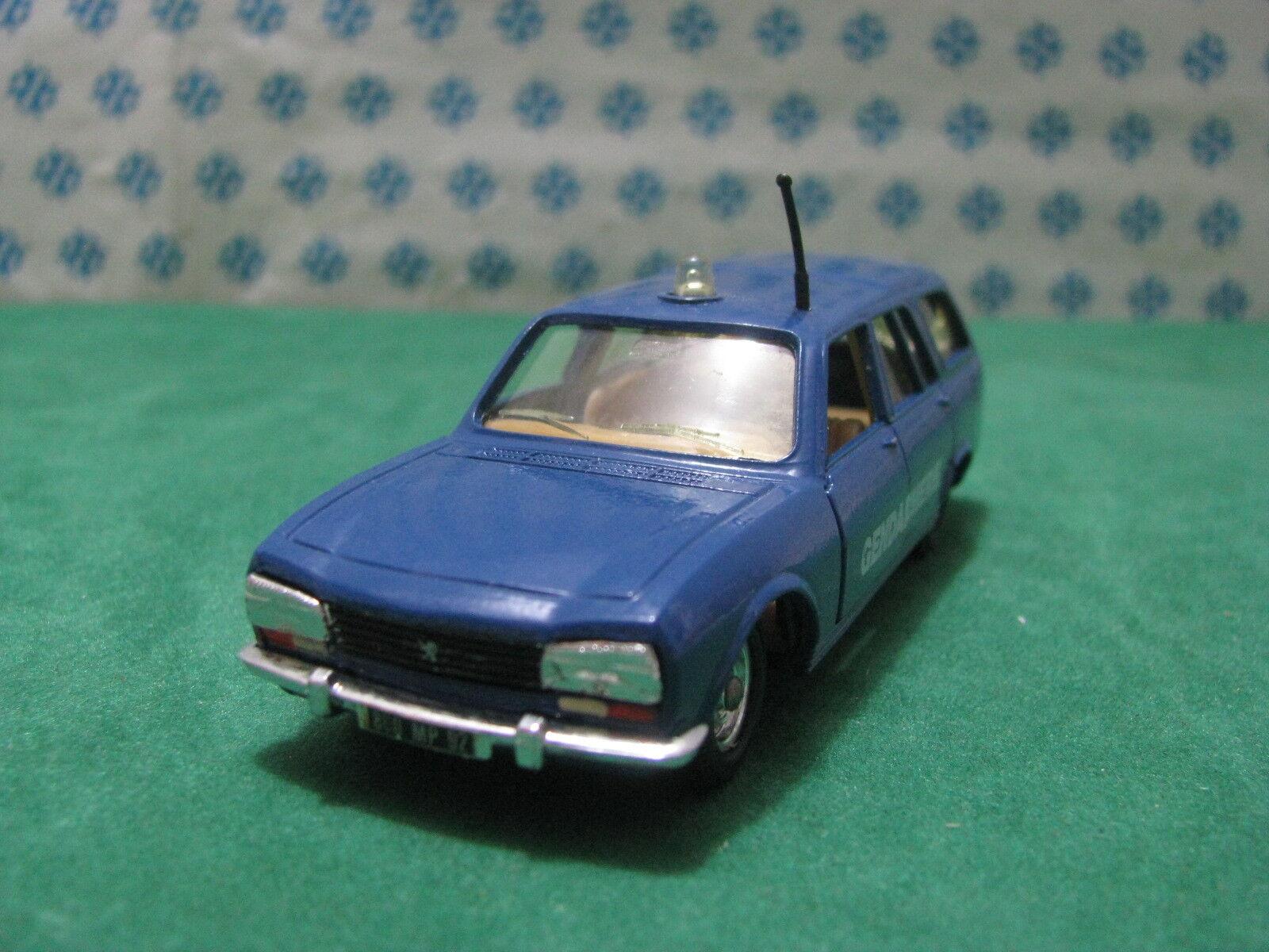 Vintage-PEUGEOT 504 2000cc. Break Gendarmerie - 1 43 Solid No. 23