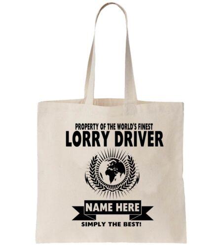 Lorry Driver Personalised Tote Bag Shopper Thanks Amend Birthday Gift HGV Van