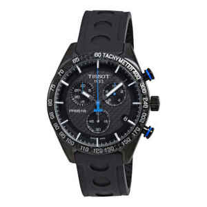 Tissot PRS 516 Chronograph Black Carbon Dial Men's Watch T1004173720100