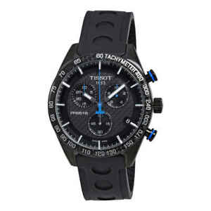 Tissot-PRS-516-Chronograph-Black-Carbon-Dial-Men-039-s-Watch-T1004173720100