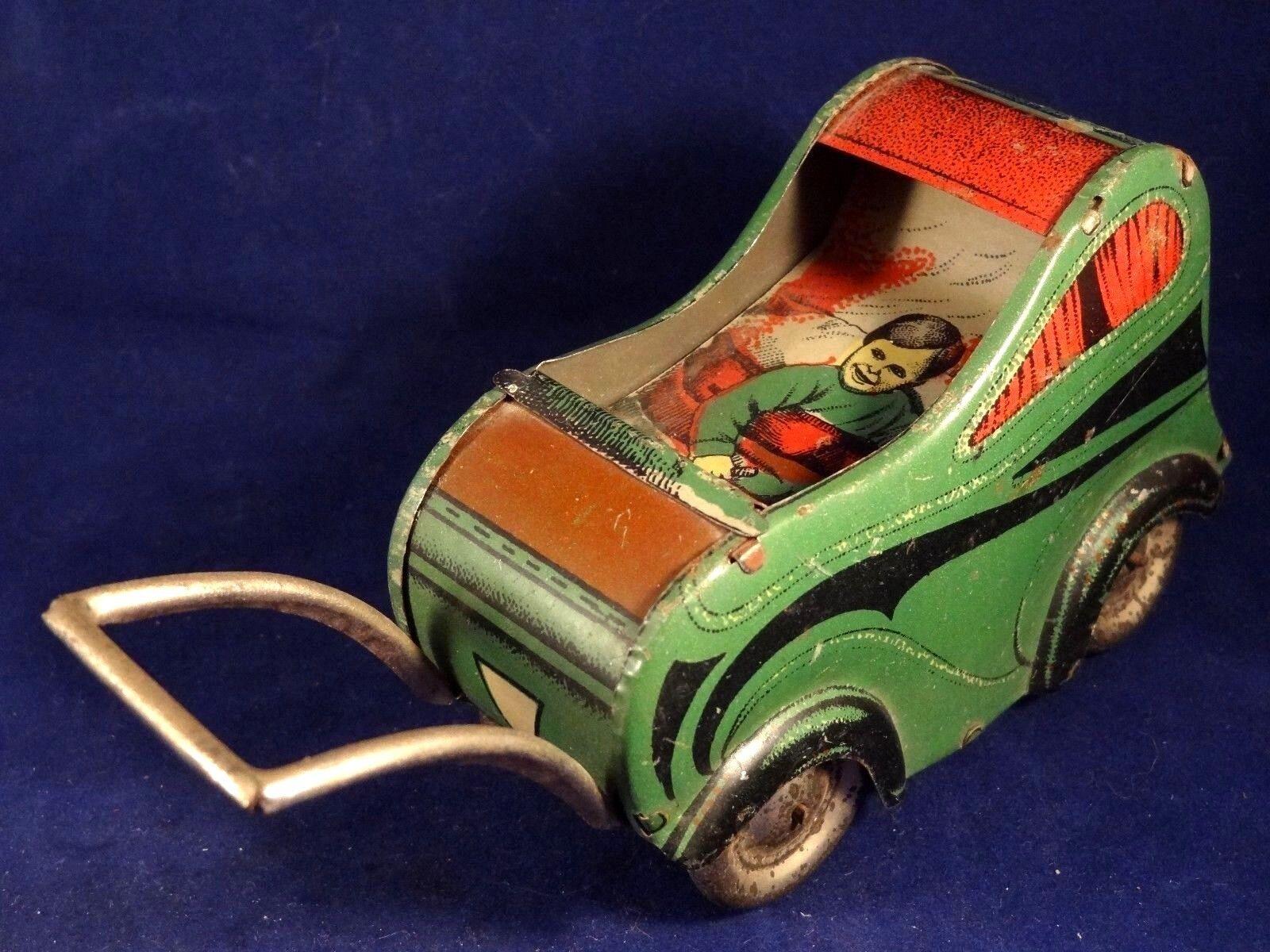 Ancien jouet landau tôle Bébé Bébé Bébé SFC Siro Ferrari Casalpusterlengo ITALY 1920 RARE 463607
