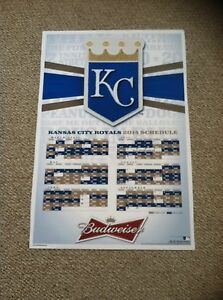 2014 Kansas City Royals Budweiser Schedule Poster -World Series Season