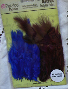 Mixed-FEATHERS-Blue-Purple-40-per-Pack-approx-6cm-long-Petaloo